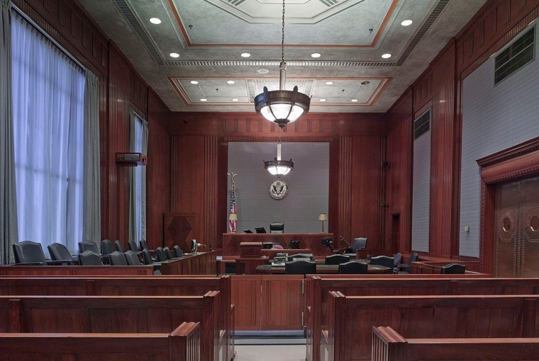 Courtroom Benches Seats Law Justice Lighting Wood