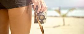 Girl Camera Vintage Hand Legs Skin Beach
